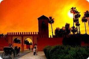 Sunset in Marrakech