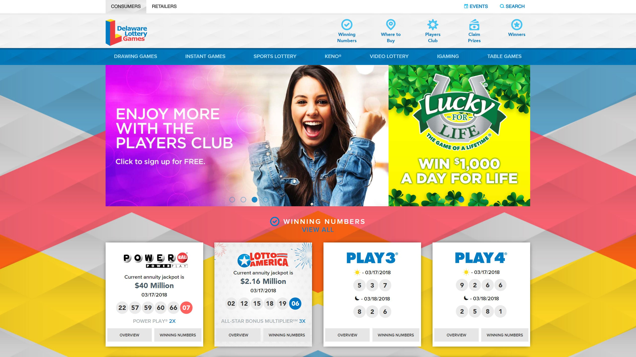 Delaware Lottery Website Redesign