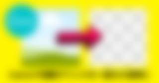 Canvaの複数画像のグリッドの一部を使わずに透明にする方法