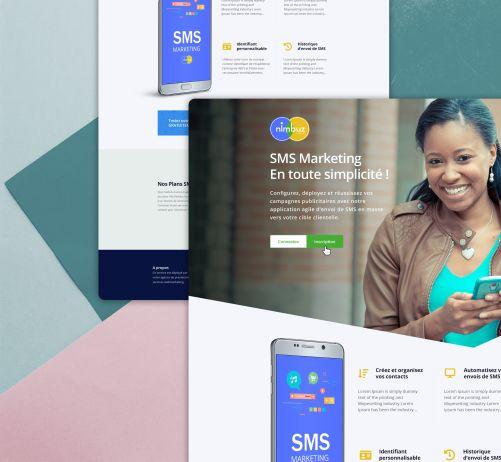 Nimbuz SMS Landing Page