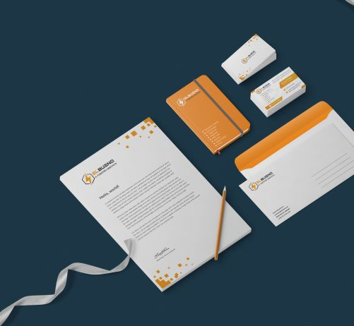 ElBueno Brand Stationery Design