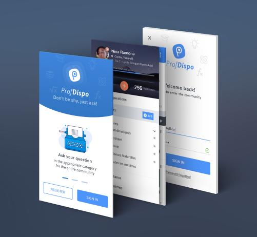 ProfDispo Mobile App UI Design
