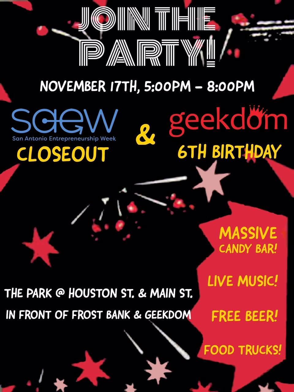 Geekdom 6th Birthday Party