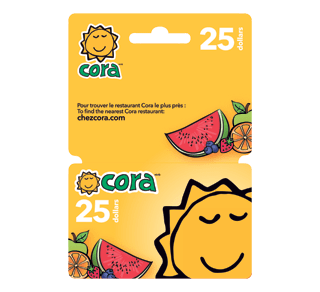 25 Cora Gift Card 1 Unit Incomm Hostess And Teacher S Gifts Jean Coutu