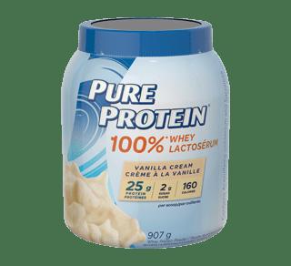 100% Whey Protein Powder, 907 g, Vanilla Cream – Pure Protein : Sport