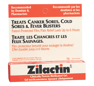 Medicated Gel for Canker Sores, Cold Sores & Fever Blisters, 6 g – Zilactin  : Oral