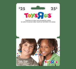"""carte cadeau toys r us Carte cadeau Toys""""R""""Us de 25 $, 1 unité – Incomm"""