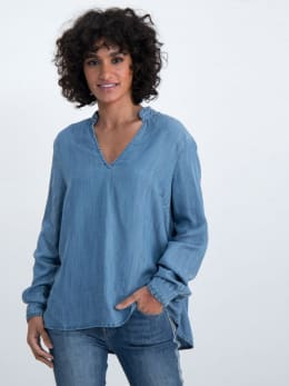 garcia denim blouse m00030 blauw