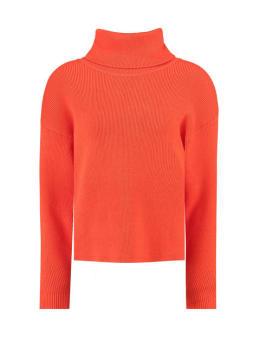 garcia trui met col j90242 oranje-rood