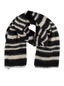sarlini gestreepte sjaal zwart-wit