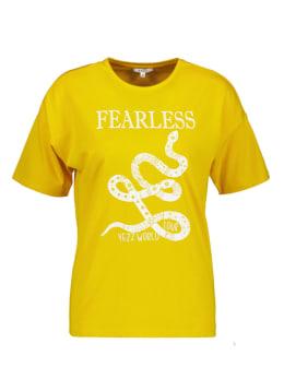 yezz t-shirt met opdruk geel py000605