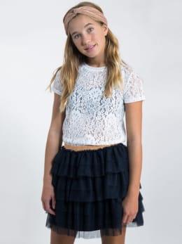 garcia t-shirt van kant l92602 wit