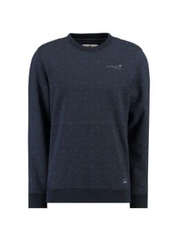 garcia sweater met allover print g91065 blauw