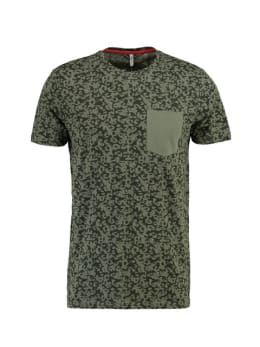 chief t-shirt met print pc910703 groen