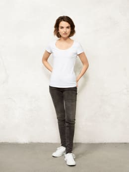 jc basic t-shirt organic cotton jc700902 wit