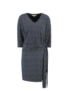 garcia jurk met print h90285 donkerblauw