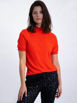 garcia t-shirt met turtleneck l90033 rood