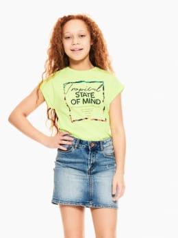 garcia t-shirt met opdruk geel q02401