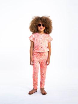 garcia jumpsuit met allover print o04683 roze