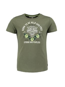 garcia t-shirt met opdruk pg020101 groen