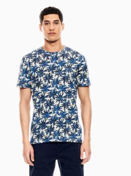 garcia t-shirt met allover print blauw q01009