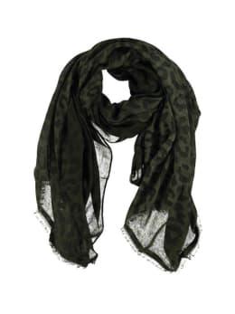 sarlini panterprint sjaal groen