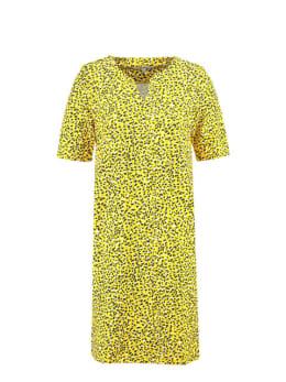garcia jurk korte mouwen e90087 geel