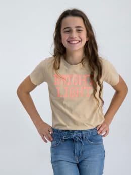 garcia t-shirt met opdruk m02401 beige