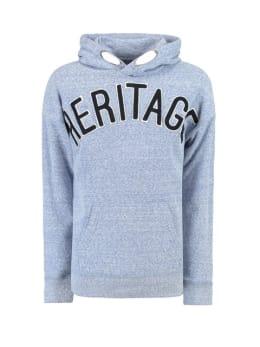 garcia hoodie met tekstprint g93466 blauw