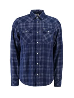 garcia geruit overhemd I91025 blauw