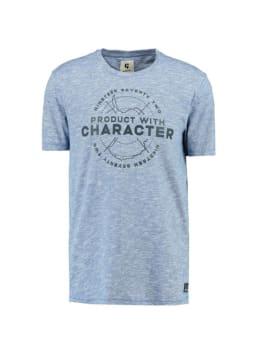 garcia t-shirt met print g91007 blauw