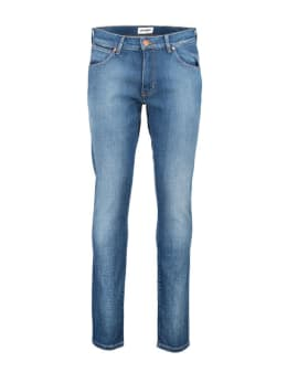 wrangler jeans larston blauw
