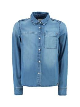 garcia blouse denim met lange mouwen g92434