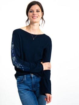 garcia long sleeve met borduurwerk h90242 blauw