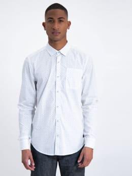 garcia overhemd met allover print j91234 wit
