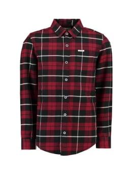 garcia overhemd i93430 geruit rood