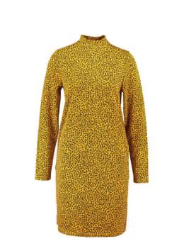 garcia jurk met allover print ge900906 geel