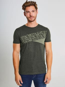 chief t-shirt met print pc910705 groen