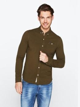garcia tricot overhemd legergroen pg010401