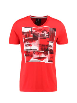 Chief T-shirt Korte Mouwen V-hals PC910505 Rood