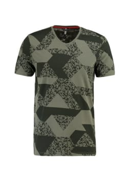 chief t-shirt met print pc910704 groen