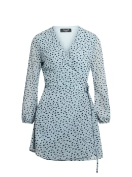 sisterspoint jurk blauw gobbi
