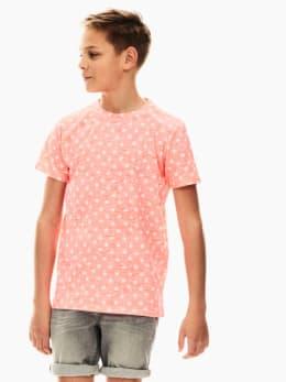 garcia t-shirt met allover print roze ge030402