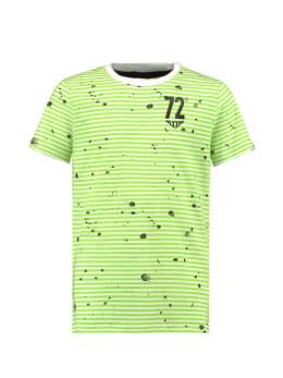 garcia t-shirt e93402 gestreept groen