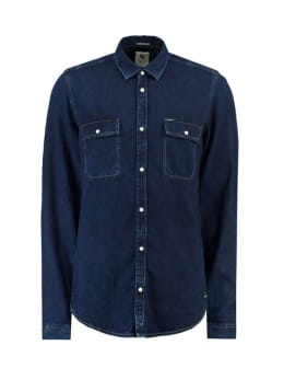 garcia denim overhemd I91022 donkerblauw