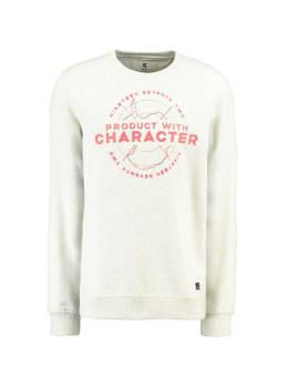 garcia sweater met opdruk g91063 wit