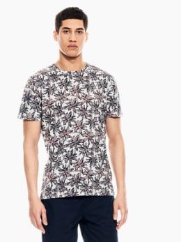 garcia t-shirt met allover print roze q01009