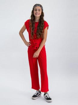 garcia jumpsuit met korte mouwen n02679 rood