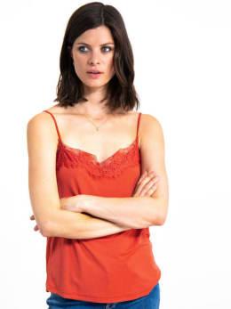 garcia top met kant gs900701 oranje-rood