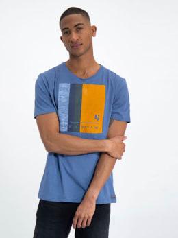 garcia t-shirt met opdruk j91203 blauw
